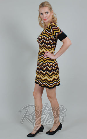 Voodoo Vixen Chevron Chambray Sweater Dress side