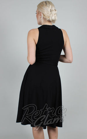 Voodoo Vixen Black Charlie Dress with Spider Web Embroidery back