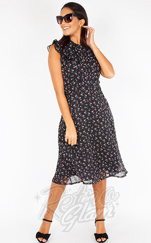 Voodoo Vixen Cheryl Cherry Print Tea Dress