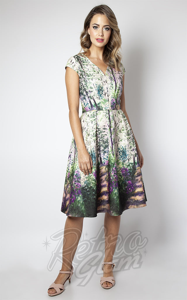 Voodoo Vixen Christina Lilac Road Dress