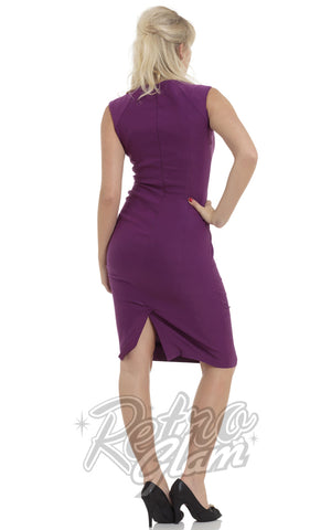 Voodoo Vixen Claudette Dress in Purple Back