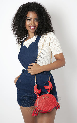 Voodoo Vixen Sebastian the Crab Crossbody Handbag novelty