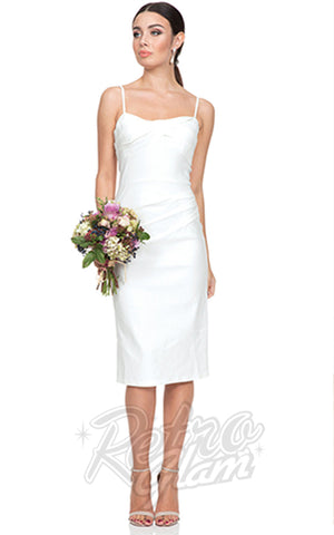 Voodoo Vixen Davina White Wiggle Dress bridal