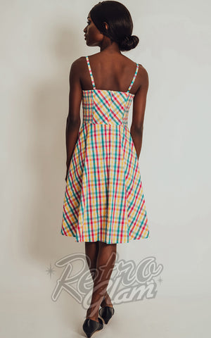 Voodoo Vixen Megan colored plaid Dress