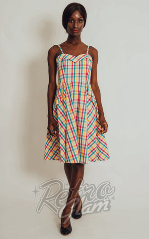 Voodoo Vixen Megan 50's Multicolour Check Dress