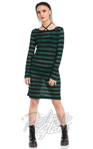 Jawbreaker Forest Stripes Sweater Dress Punk