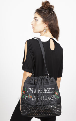 Jawbreaker Fragile Flower tote bag