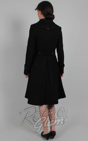 Voodoo Vixen Grace Coat in Black back