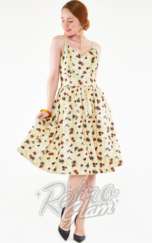Voodoo Vixen Julisa Honey Bee Print Flared Dress