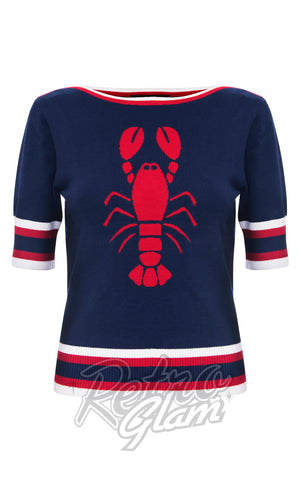 Voodoo Vixen Lobster Sweater in Navy