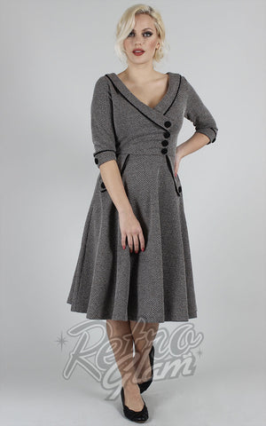 Voodoo Vixen Marica 50's Herringbone Dress