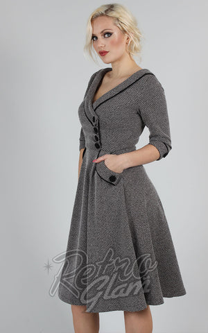 Voodoo Vixen Marica 50's Herringbone Dress side