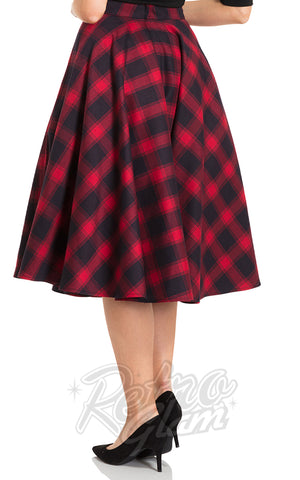 Voodoo Vixen May Skirt in Red Plaid back