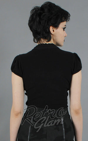 Jawbreaker The Phantom Ruffle Keyhole Top back