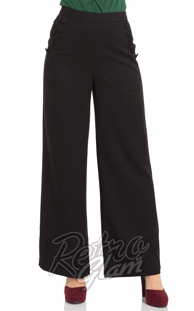 Voodoo Vixen Black Roma Trousers
