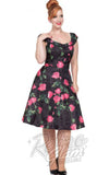 Voodoo Vixen Rosabelle Organza Flare Dress in Roses