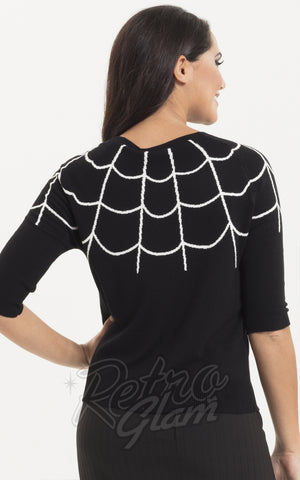 Voodoo Vixen Spider Web Sweater back