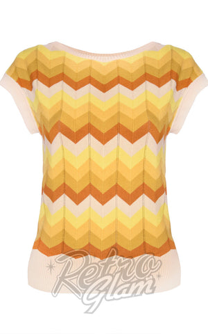Voodoo Vixen Yana Chevron Sweater back