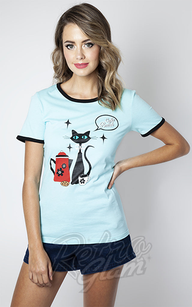Voodoo Vixen Coffee Cat T-Shirt