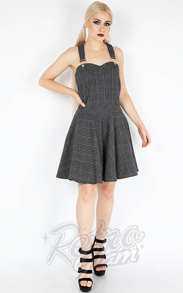 Jawbreaker Grey Tartan Overall Dress