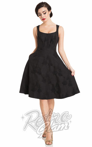 Voodoo Vixen Flocked Tiffany Flare Dress