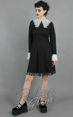 Jawbreaker Weird Sisters White Lace Collar Dress