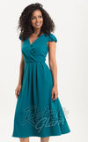 Voodoo Vixen Alexa Dress teal