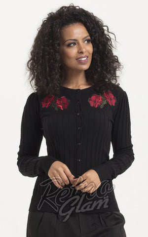 Voodoo Vixen Faith Poppy Rose Cardigan