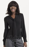 Voodoo Vixen Madeline 40's Blouse in Black