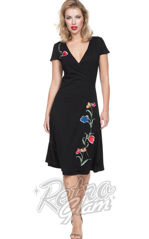 Voodoo Vixen Primrose Floral Wrap Dress