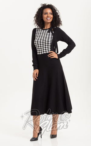 Voodoo Vixen Sofia Houndstooth Dress