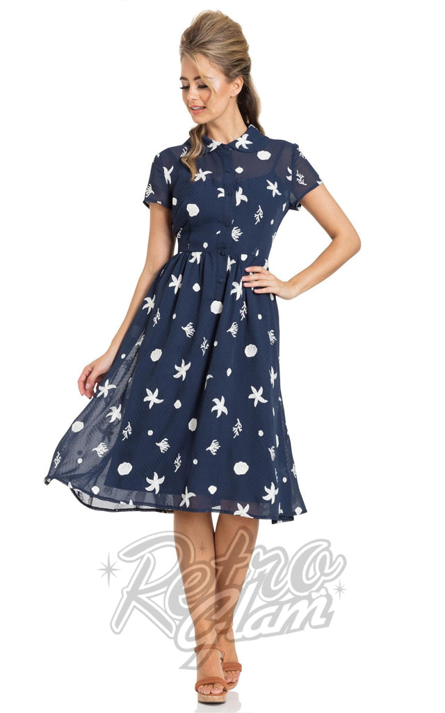 Voodoo Vixen Mary Under the Sea Swing Dress