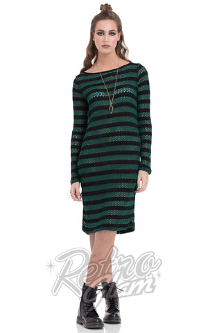 Jawbreaker Forest Stripes Sweater Dress