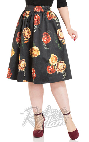 Voodoo Vixen Marigold Gathered Flare Skirt