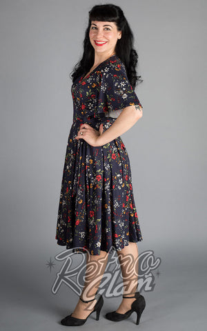 Wax Poetic Aurora Wrap Dress in Edelweiss Print 2