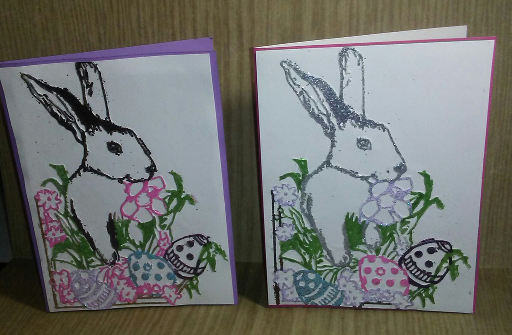 Double Embossed Easter Card