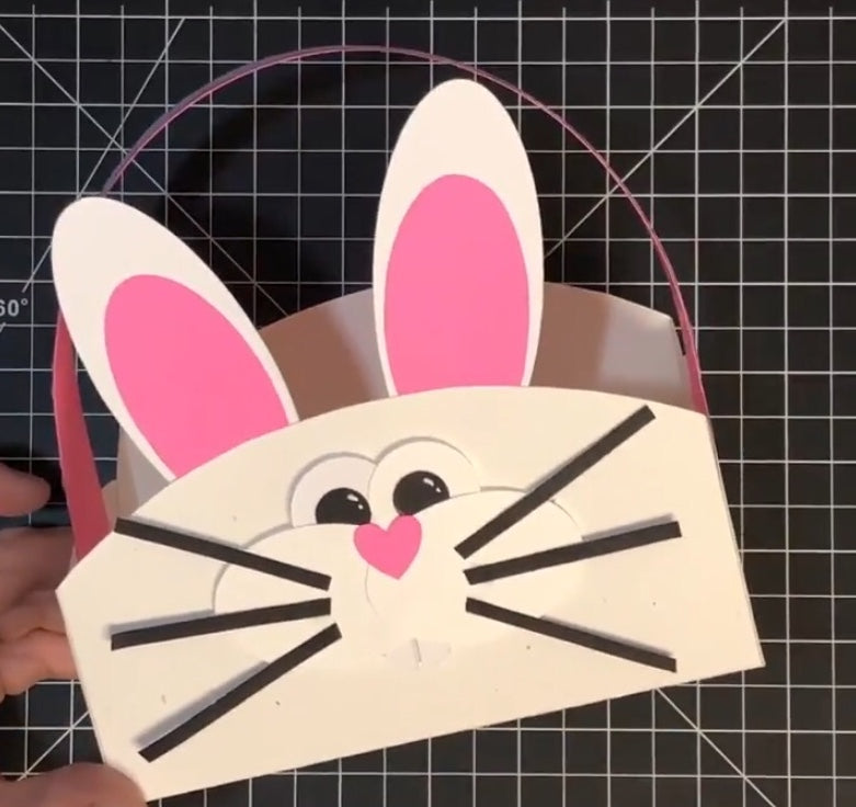 Bunny Basket Paper Plate Style Tutuorial