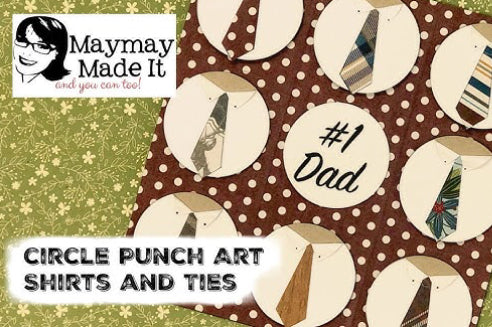 Dad's Shirt and Tie using Circle Punch Art