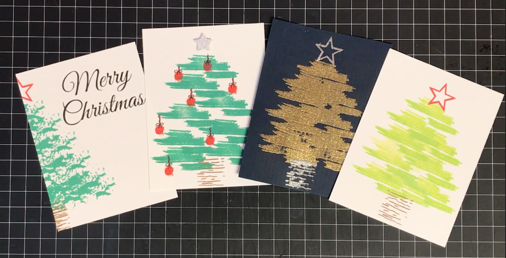 Christmas Trees Featuring the Patina Stamp Set