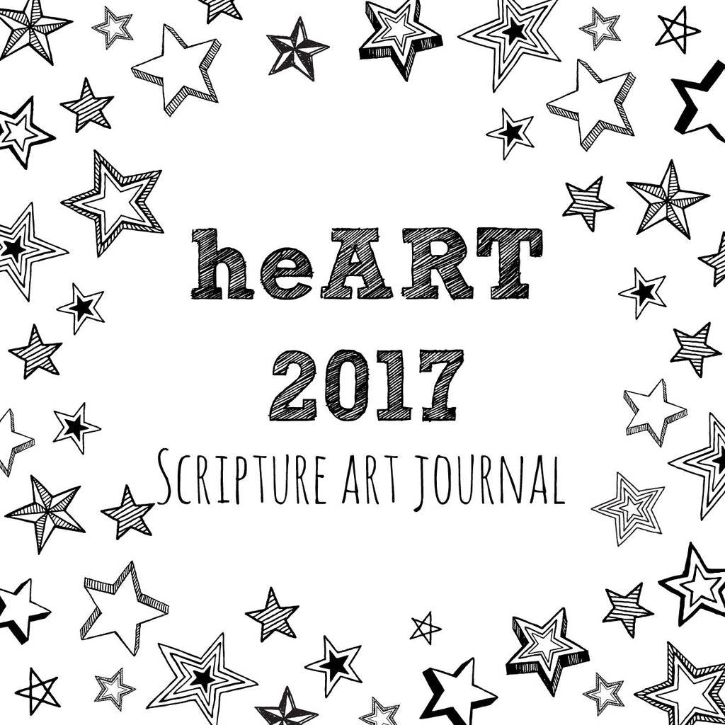 heART Scripture Art Journal Overview for 2017