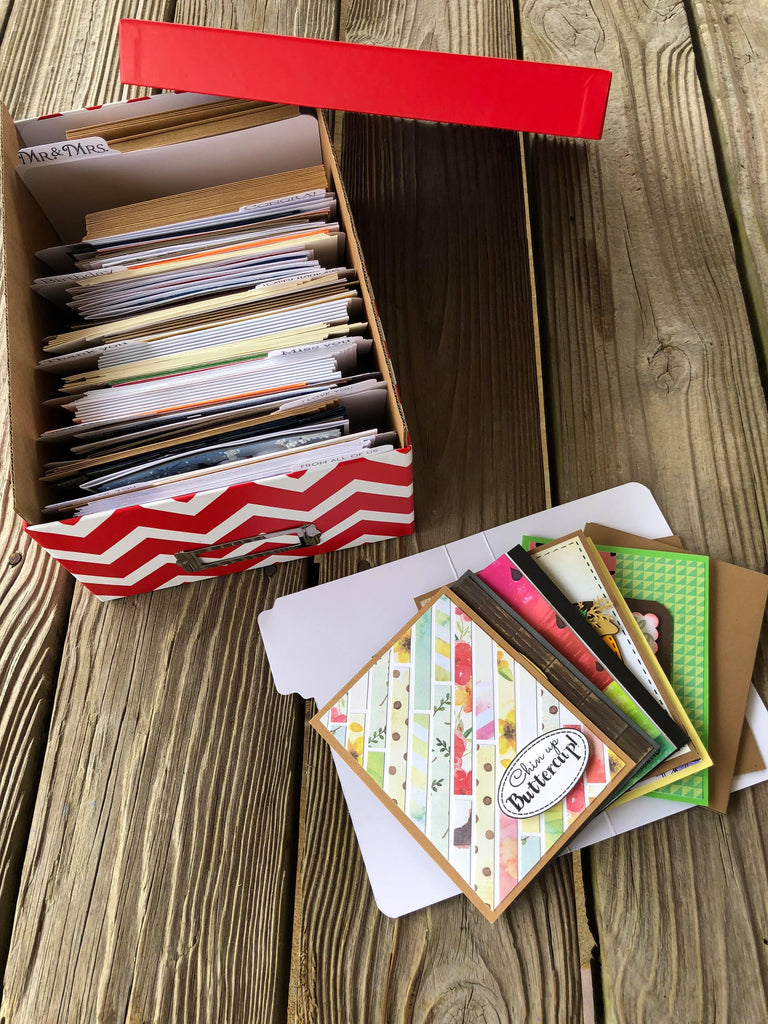Greeting Card Box Storage