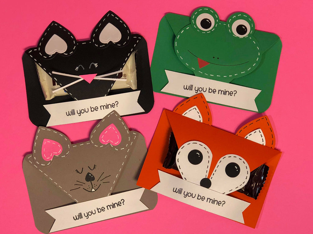 Cute critter Valentine Treat Holders