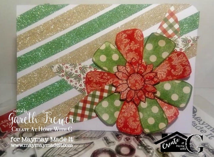 Christmas Flower card with a difference: