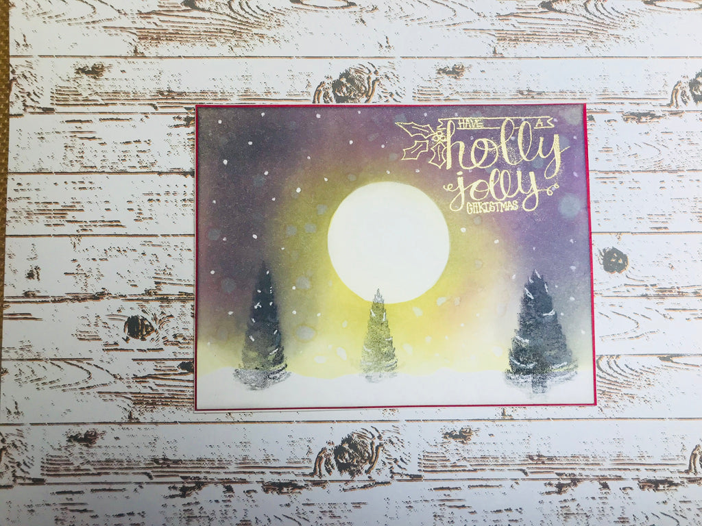 Christmas Night Scene Card