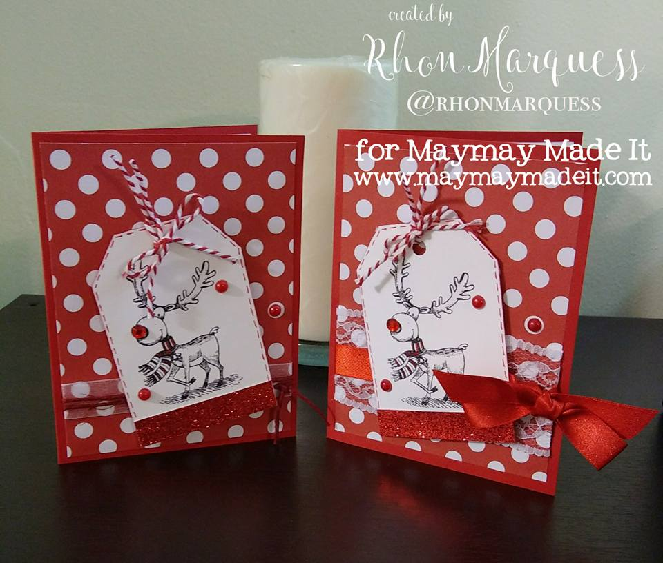 World Card Making Day-Mission InCARDible -Christmas Card created by Rhon Marquess