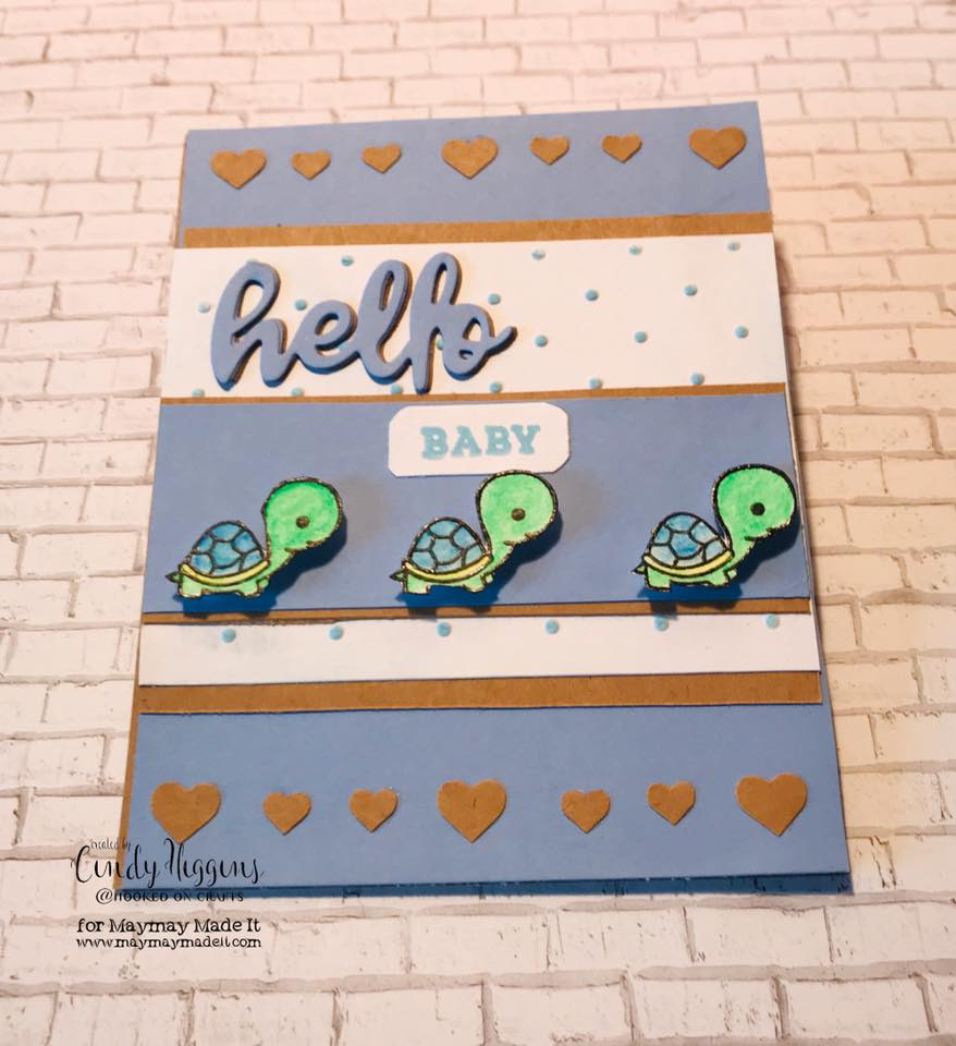 World Card Making Day- Mission InCARDible- New Baby Card by Cindy Higgins
