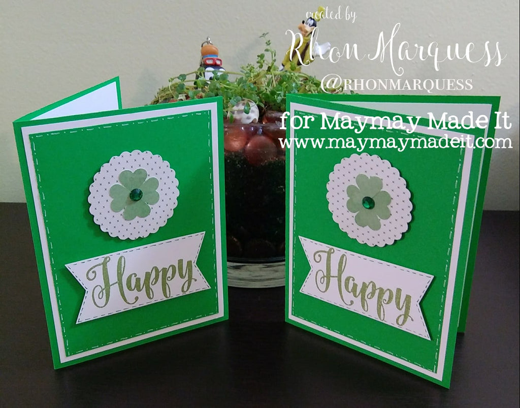 St Patrick's Day Card DT Project Created by Rhon Marquess