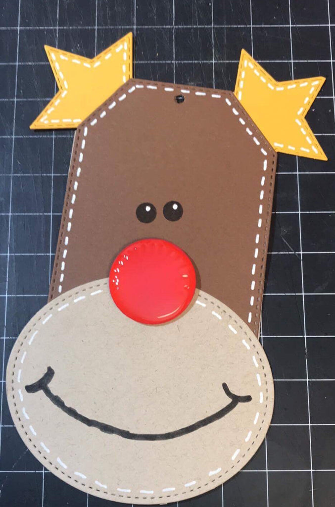 Rudolf Reindeer Tag-Super Easy!