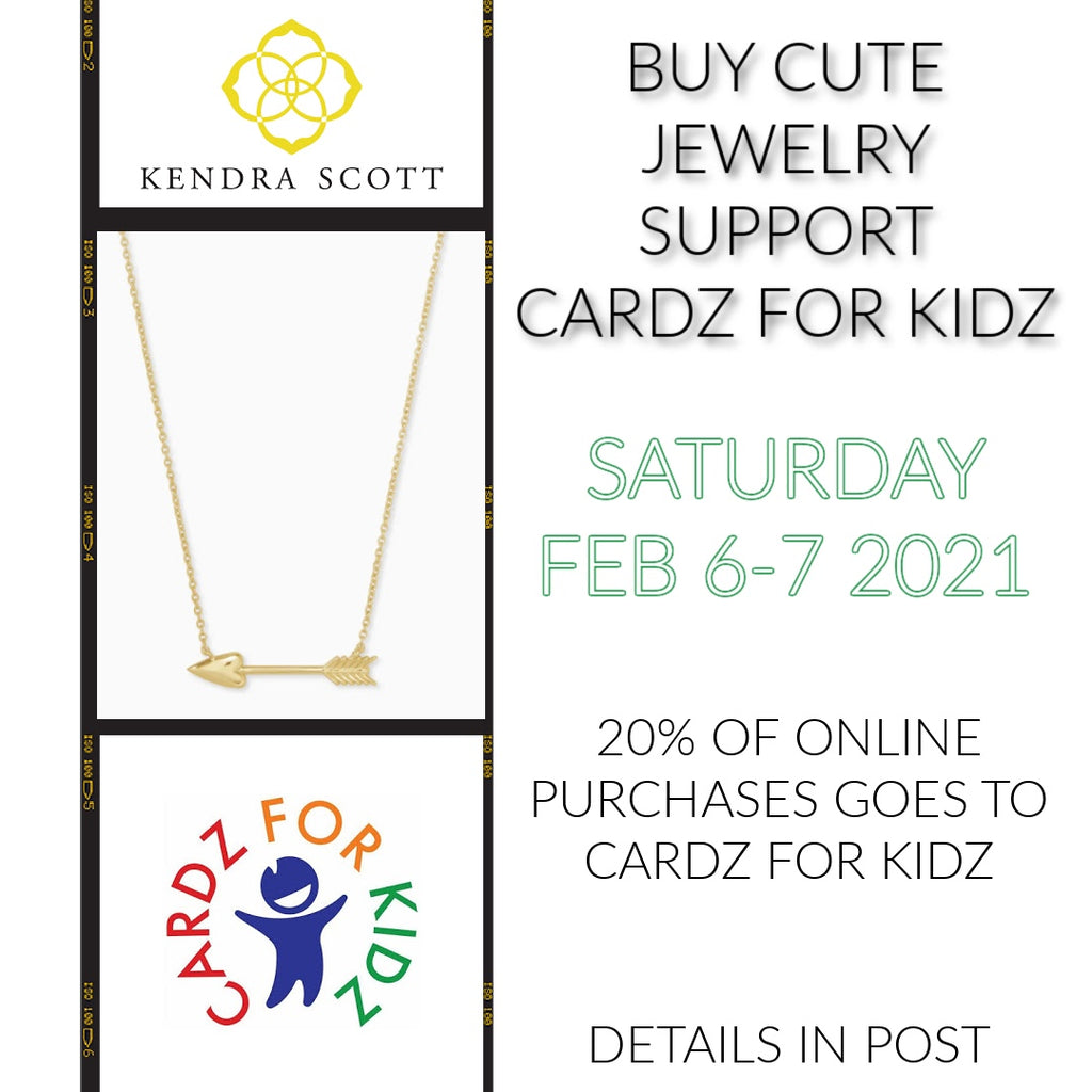 Kendra Scott and Cardz for Kidz are raising money together! You can help!!!