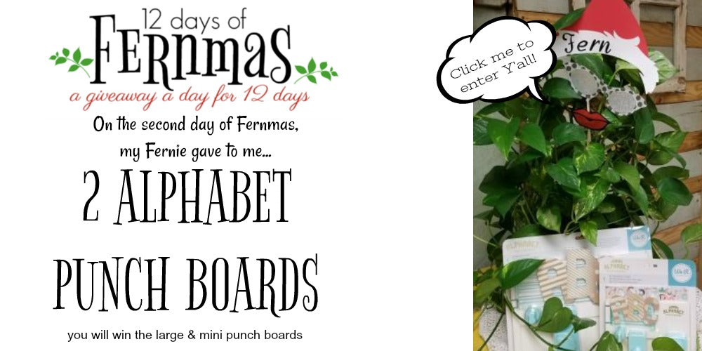 12 Days of Fernmas, A Giveaway a Day for 12 Days~ DAY 2